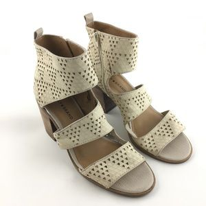 Lucky Brand Kabott Cream Perforated Bootie Size 9